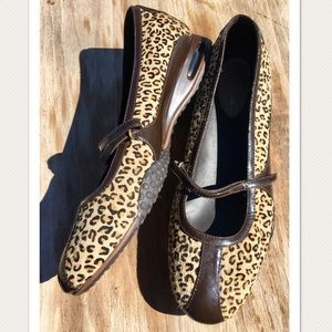 Cole Haan Nike Air Leopard Print Mary Janes